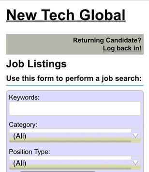 New Tech Global - Jobs poster