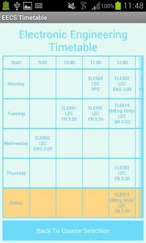 EECS Timetable apk screenshot