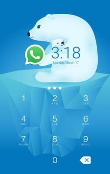 AppLock Theme Polar Bear poster