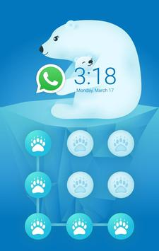 AppLock Theme Polar Bear apk screenshot