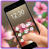 Pink Flower AppLock Theme icon