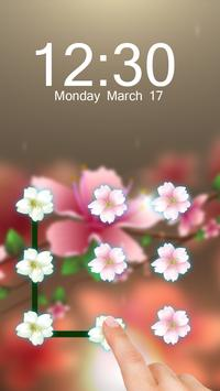 Pink Flower AppLock Theme poster