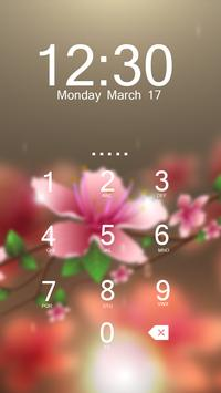 Pink Flower AppLock Theme apk screenshot