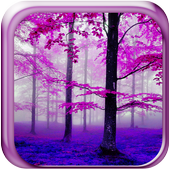 Pink & Green Forest wallpaper icon