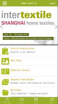 Intertextile Shanghai Home poster