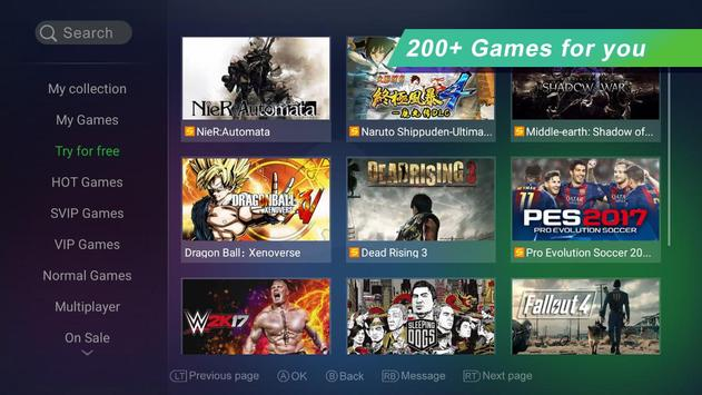 How to play xbox 360/xbox one/ps3/ps4 games on android with gloud.
