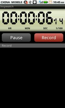 Electronic stopwatch apk screenshot