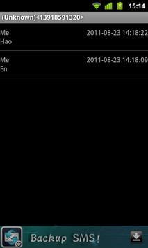 SMS Backup apk screenshot