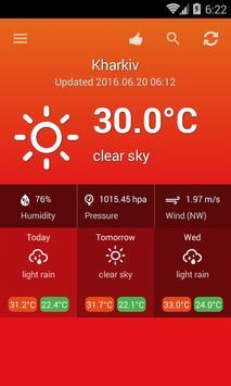 Weather Ukraine screenshot 1
