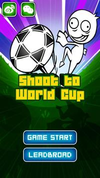 Shoot to the worldcup poster