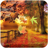 red leaf down wallpaper icon