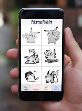 Color by Number Pokémon Pixel Art Sandbox poster