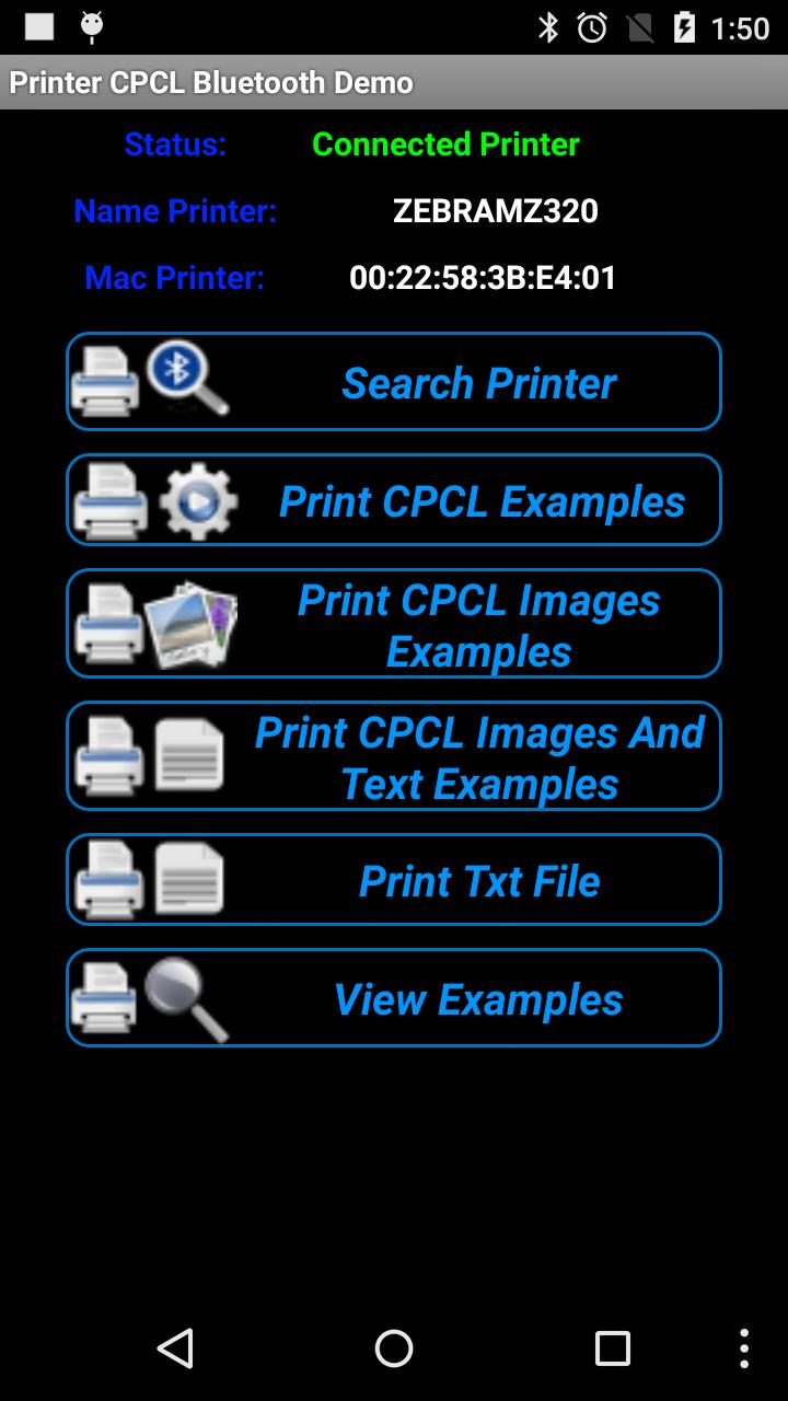 Printer CPCL Bluetooth Demo for Android - APK Download
