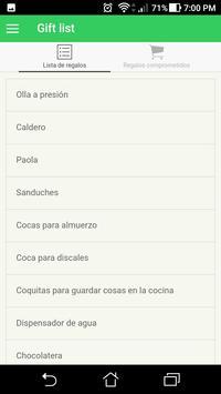 Lista De Regalos poster