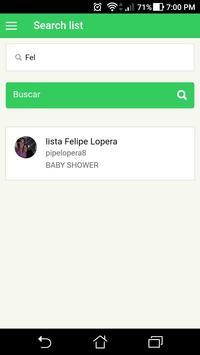 Lista De Regalos screenshot 1