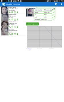 Valoracion electronica salud apk screenshot