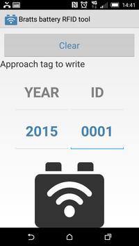 Battery RFID tool apk screenshot