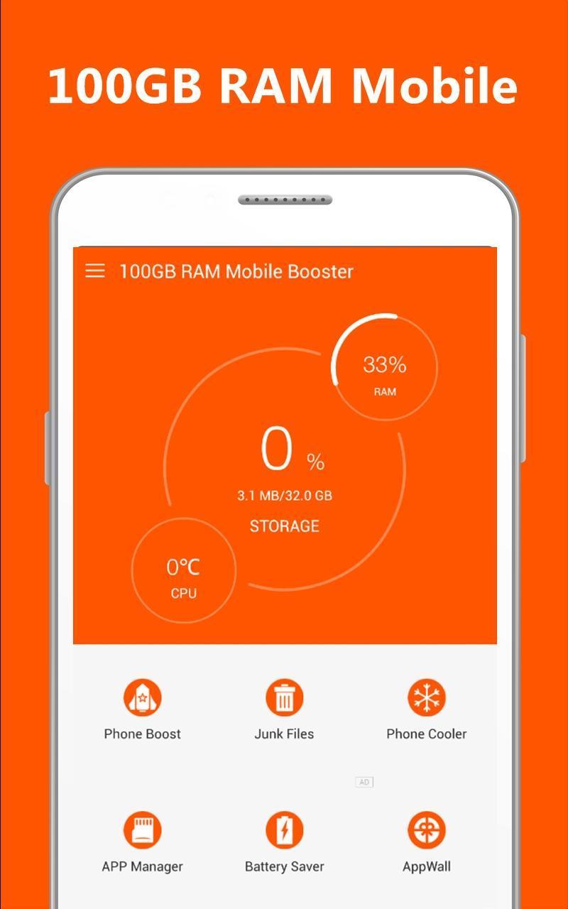 download 100gb ram mobile booster apk