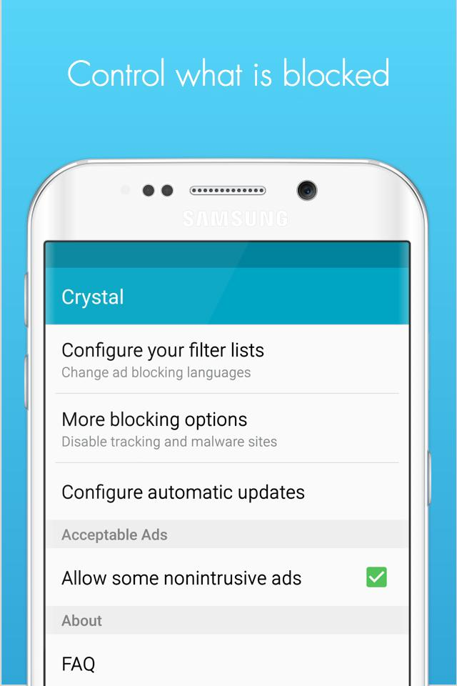 Crystal Adblock for Samsung for Android - APK Download