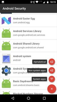 Android Permissions Analysis - Security Check poster