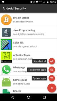 Android Permissions Analysis - Security Check apk screenshot