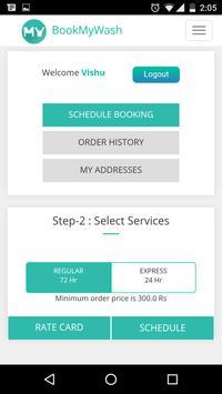BookMyWash - laundry services screenshot 3