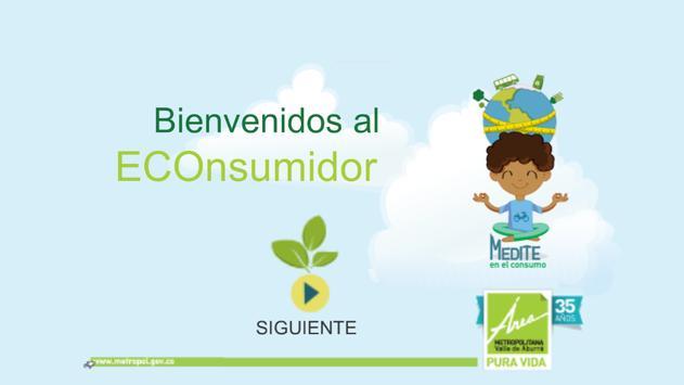 Medite en el consumo poster