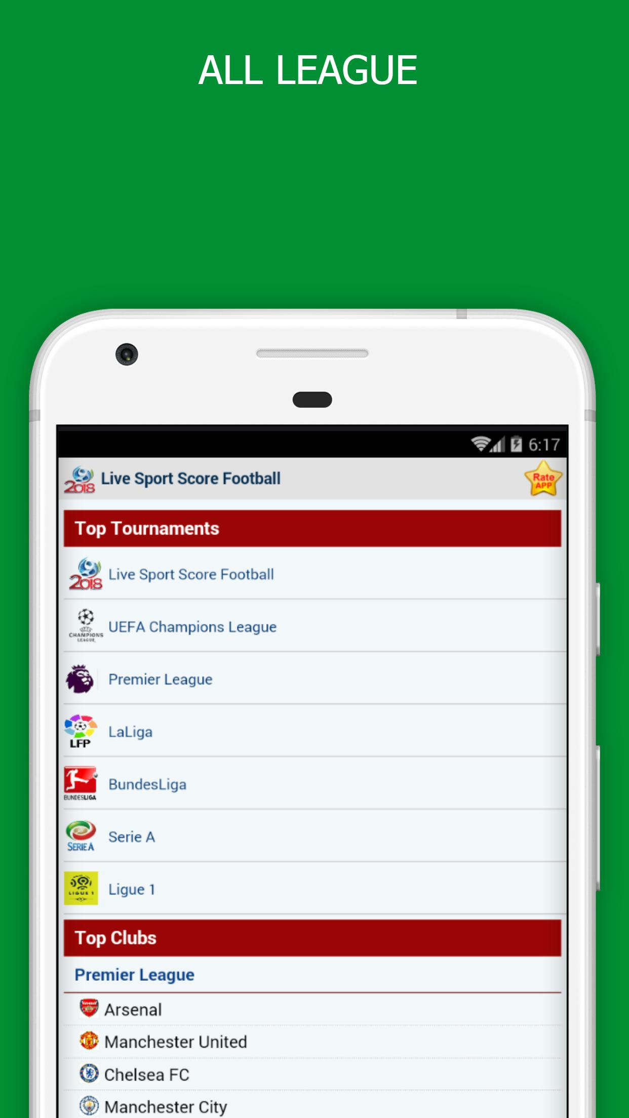 LiveScores - Soccer Schedule & Results para Android - APK Baixar