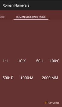 Roman Numerals screenshot 2