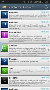 BeninNews apk screenshot
