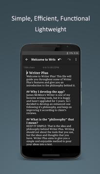 Writer Plus (Write On the Go) apk screenshot