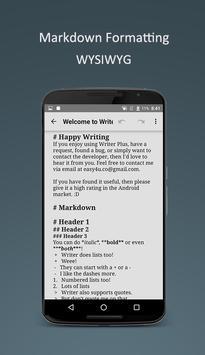 Writer Plus (Write On the Go) screenshot 1