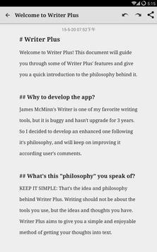 Writer Plus (Write On the Go) screenshot 5