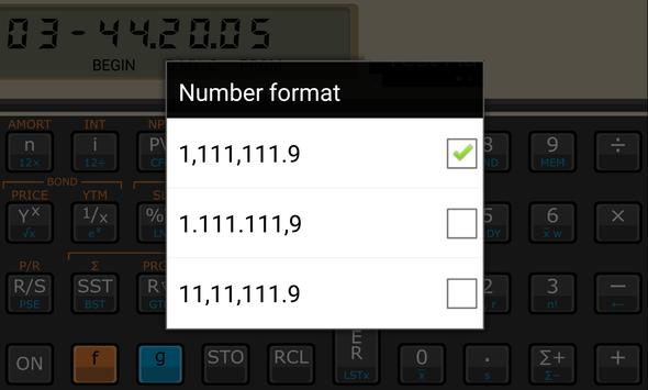 Touch Fin Calculator (free) apk screenshot