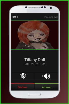 Call From Tiffany Doll apk screenshot