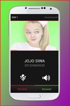 Fake Call from JoJo Siwa screenshot 11