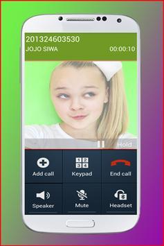 Fake Call from JoJo Siwa screenshot 4