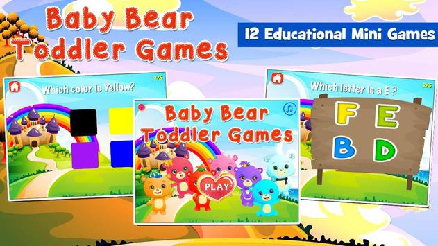 Baby Bear Games for Toddlers poster