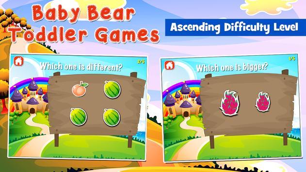 Baby Bear Games for Toddlers apk screenshot