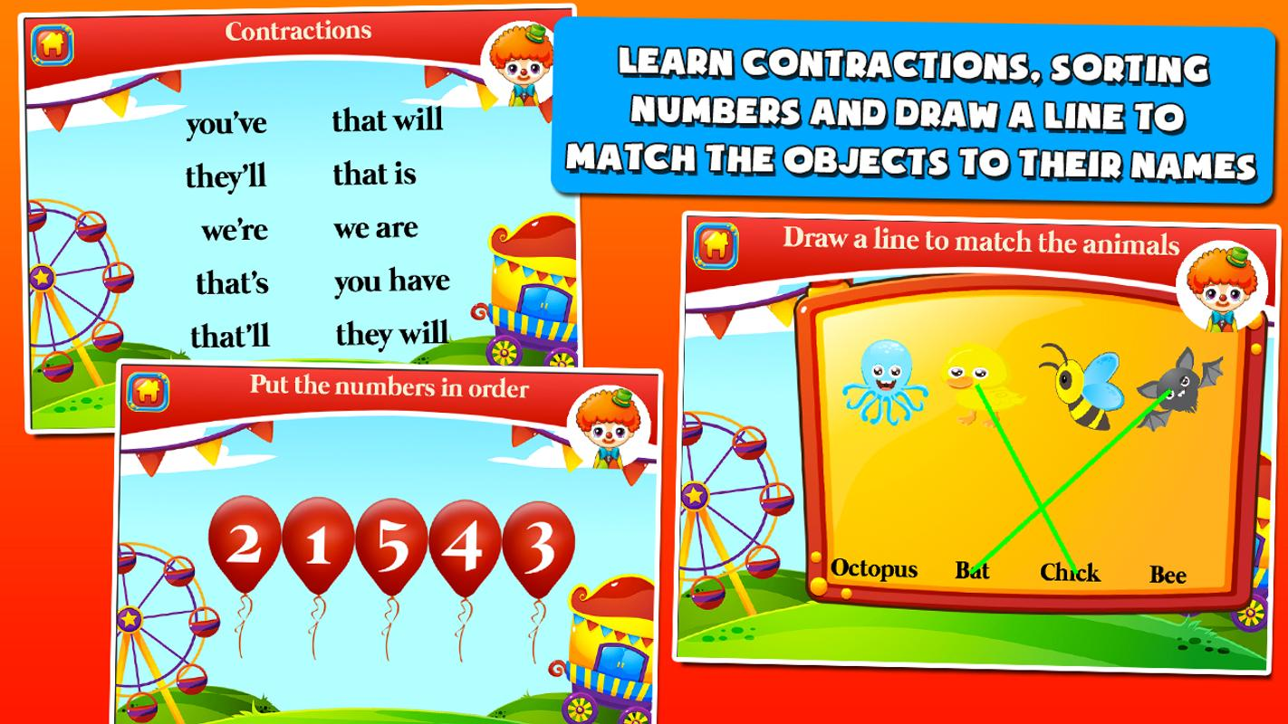 First Grade Games: Circus APK Download - Free Educational GAME for ...