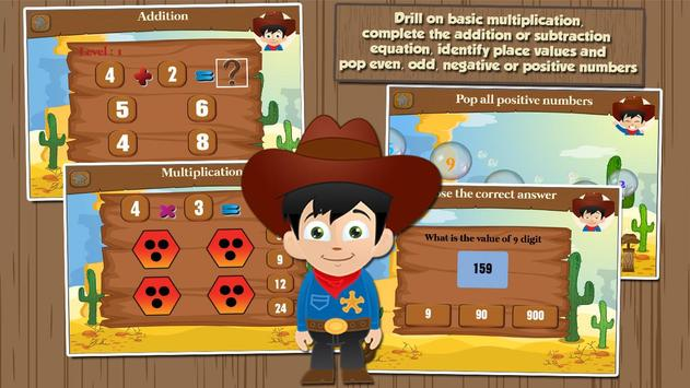 Cowboy Learning Games Grade 2 apk screenshot