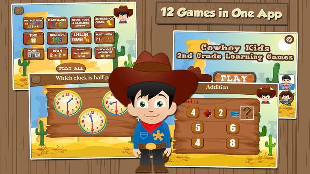 Cowboy Learning Games Grade 2 poster