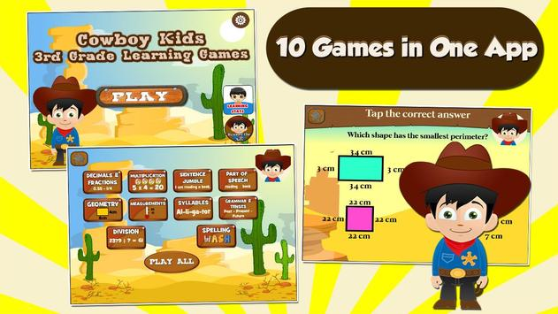 Cowboy Kids Third Grade Games apk screenshot