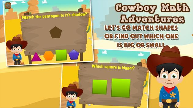Cowboy Preschool Math Games apk screenshot