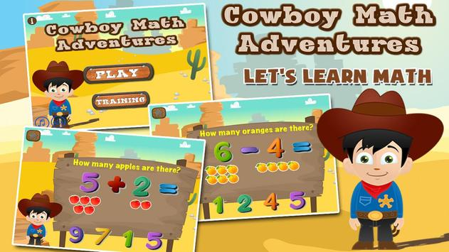 Cowboy Preschool Math Games poster