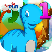 Dino 1st Grade Learning Games icon