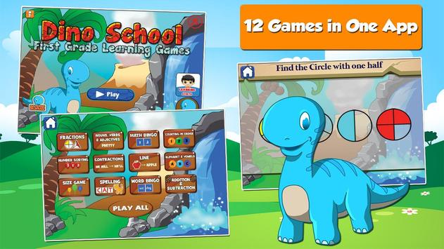Dino 1st Grade Learning Games poster