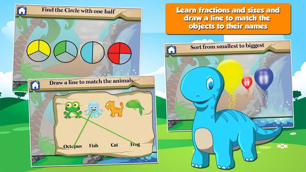 Dino 1st Grade Learning Games apk screenshot
