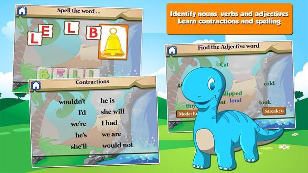 Dino 1st Grade Learning Games apk screenshot