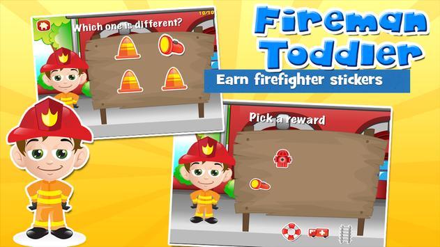 Fireman Toddler School Free apk screenshot